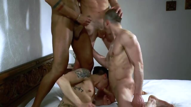 Foursome Hot Bareback gay porno foursome  gay